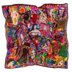 Jenny Kee 'goddess' silk scarf