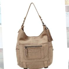 """Host Pick Rebecca Minkoff Nude (Tan) Hobo bag Authentic RM """"Swoon"""" bag still retailing for $495! 14""""H x 12""""L x 3""""D and 9"""" strap drop. It has a natural """"distressed"""" look. Welt side pockets, topstitching at seams and buckled straps at bottom. Does not come with the pictured tassel. Has some slight signs of wear (last picture). Sold as is. Price is reflected. You won't find a RM at this price!!! Rebecca Minkoff Bags Hobos"""