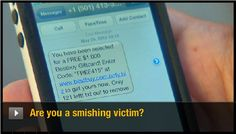 "Learn how to protect yourself from ""smishing."" http://cnet.co/Mzg07J"