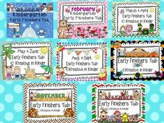 Early Finisher Tub Bundle For ALL Year!  Creating an Early Finishers Tub was the best thing I have ever done for my students (and myself). Now when students finish early, there are activities ready to go for them and peace can be maintained while others are still working.  This bundle includes ALL EIGHT Early Finisher's Tubs at a discounted price.   $