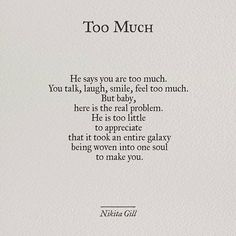 Too much - self love