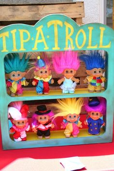 Tip a Troll Game! Now got to look around and see where I can find troll dolls