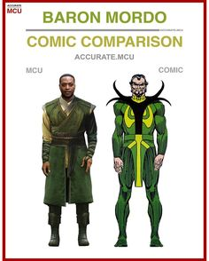 "5,908 Likes, 214 Comments - • Accurate.MCU • mcu fanpage (@accurate.mcu) on Instagram: ""• BARON MORDO - COMIC COMPARISON • I think he looks cool enough, I do think they can pull of those…"""