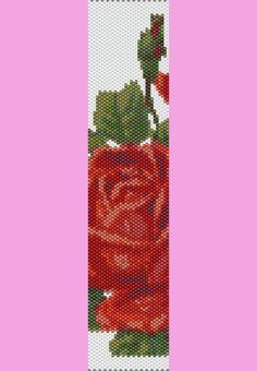 Rose Garden Bracelet PEYOTE Pattern