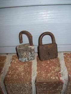 Salvage Architectural Fragment Rustic Locks Vintage Padlocks Primitive Farmhouse Industrial Restoration Hardware Style Lock Collection