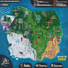 Fortnite Cheat Sheet Map For Season 9, Week 5 Challenges