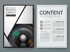 Vector magazine,modern flyers brochure,cover,report,design templates,layout with 3d lens camera  background in a4 size,To adapt for business…