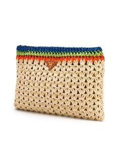 Prada Vintage zipped clutch - Prada Clutch - Ideas of Prada Clutch - Prada Vintage zipped clutch Prada Purses, Clutch Bag, Crochet Clutch, Crochet Handbags, Vintage Clutch, Leather Purses, Leather Wallet, Denim Bag, Crochet Dresses