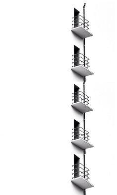 Black&white photography of the Bauhaus balconies Photo by Ivo mathieu gaston Minimal Photography, Urban Photography, Black And White Photography, Composition In Photography, Geometric Photography, Photography Lighting, Interior Photography, Monochrome Photography, Minimalist Architecture