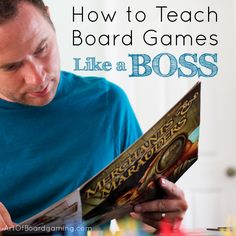 How to Teach Boardgames