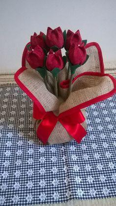 Peso de Porta Tulipa | Bendito Pano Artesanato | Elo7