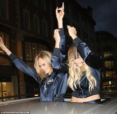 It's party time! Cara Delevingne and Margot Robbie let their hair down as they got their g...