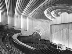 Odeon Leicester Square Cinema London Art Deco Interior 8 x 10 Photograph Theater Architecture, Art And Architecture, Art Nouveau, Westminster, London England, Eileen Gray, Streamline Moderne, Art Deco Buildings, Chrysler Building