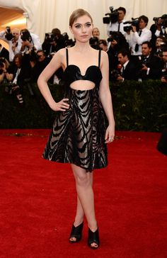 Pin for Later: Who Wore What: See Every Look on the Met Gala Red Carpet Imogen Poots at the 2014 Met Gala Imogen Poots walked on the sexy side in Proenza Schouler's cutout design.