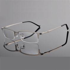 d3b24cf1b1 Chashma Titanium Eyeglass Ultra Light Weight Frames Optical Frame Glasses  for Men Half Rim-in Eyewear Frames from Men s Clothing   Accessories on ...