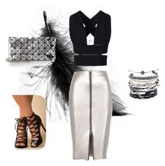 """magnetic"" by nura-mehmedovic ❤ liked on Polyvore featuring STELLA McCARTNEY, River Island, Bao Bao by Issey Miyake and Domo Beads"