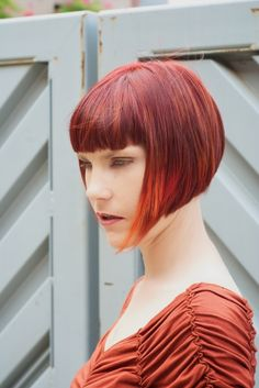 red bob with cool bangs | by napecram