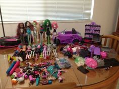 Monster High Lot for Sale includes Cupid,  Duece Gordon, and Holt Hyde along with clothing and accesories