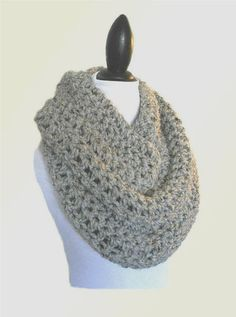 Oversized Knit Scarf Gray Infinity Scarf Oversize Circle Loop Scarf Crochet Grey Wool Infiniti Scarf Cowl Women Scarves Mens Infinity Scarf - Chunky Infinity Scarf from My Shop , Mens Infinity Scarf, Chunky Infinity Scarves, Oversized Scarf, Braided Scarf, Loop Scarf, Crochet Scarves, Knit Crochet, How Do You Knit, Colored Braids