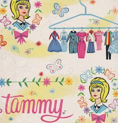 Vintage Tammy Gift Wrap 1965 by hmdavid, via Flickr