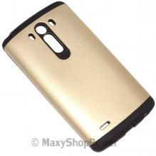 CUSTODIA RIGIDA HARD COVER TOUGH ARMOR PLASTIC SILICONE TPU CASE LG G3 GOLD ORO - SU WWW.MAXYSHOPPOWER.COM