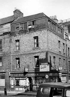 Candy Corner, 43 Hanbury Street, Spitalfields 1956 JM Prest via English Heritage