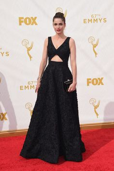 2015 Emmy Awards: Red Carpet Arrivals AMANDA PEET