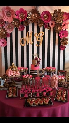 Birthday party ideas etsy Ideas ideas for birthday 21 Party, 40th Birthday Parties, 16th Birthday, 60th Birthday Ideas For Mom Party, Birthday Centerpieces, Birthday Party Decorations, Kate Spade Party, Bridal Shower Kate Spade, Barbie