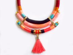 Back in stock Orange Neon necklace native inspired by tashtashop