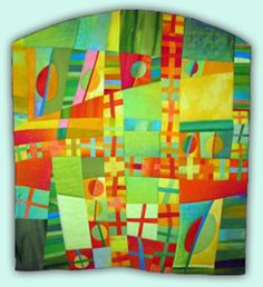 Orbs and Crosses #5 - Melody Johnson: Art Quilts - Galleries - Geometric Abstractions 1