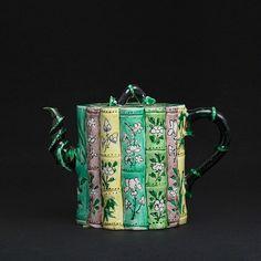 Famille Verte bamboo Teapot, China, Kangxi period