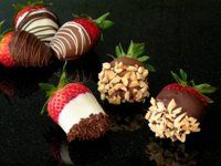 Chocolate dipped strawberries + BANANAS for the Bachelorette party