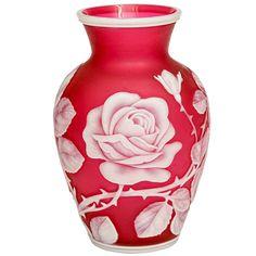 Stourbridge Glass: A Fine Thomas Webb & Sons Cameo Glass Vase Stuart Crystal, Vases For Sale, White Wedding Cakes, Art Nouveau, Antique Glass, Pottery Vase, Colored Glass, Glass Art, Antiques