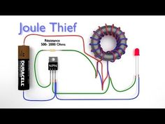 How to Make a Joule Thief - Boost Converter : 4 Steps - Instructables Electronic Circuit Projects, Electrical Projects, Electronic Engineering, Electrical Engineering, Engineering Projects, Chemical Engineering, Engineering Quotes, Engineering Technology, Circuit Basics