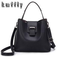 6271f40376b7 2017 Fashion PU Leather Handbags Women Tote Shoulder Bag Bucket Women Bag  Designers Luxury Brand Woman