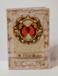 wedding card with butterfly