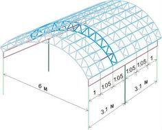 Drawing framework for the veranda arched Steel Trusses, Roof Trusses, Steel Structure Buildings, Metal Structure, Carport Patio, Car Shed, Roof Truss Design, Metal Garages, Steel Fabrication