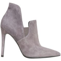 Kendall + Kylie Amber suede ankle boot (810 SAR) ❤ liked on Polyvore featuring shoes, boots, ankle booties, grigio, grey boots, grey suede bootie, suede ankle boots, gray ankle boots and suede bootie