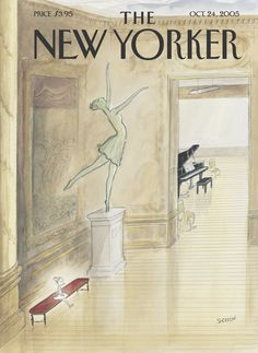 "The New Yorker - Monday, October 24, 2005 - Issue # 4141 - Vol. 81 - N° 33 - Cover ""Above All, No Faux Pas"" by ""Sempé"" - Jean-Jacques Sempé"