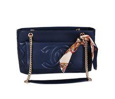 c19d1f77b0a Chanel Shoulder Bag Sheepskin Leather A17363 Royal -  199.00 Chanel Store