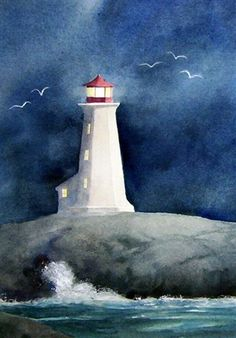 Storm Brewing at Peggy's Cove by Ann Fullerton---- i like this artist... lots of beautiful artworks