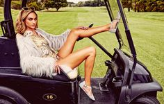 GAME ON Hannah Saul // missguided // bodysuit // unreal fur // sunday somewhere // nasty girl // beige // gold // golf // buggy