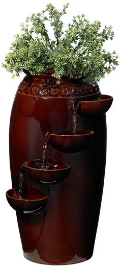 Red Cascading Indoor/Outdoor Fountain -