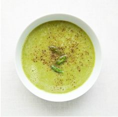 Simple Asparagus Soup: Saute shallots in butter. Add 6 cups chicken or vegetable stock and 2 lb. chopped asparagus. Cook until asparagus is tender and puree in blender.