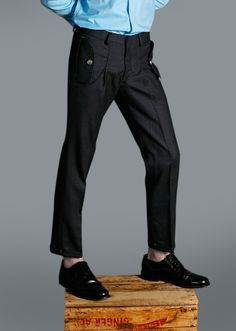 CHARCOAL PLEATED TROUSERS by Duly Equipped