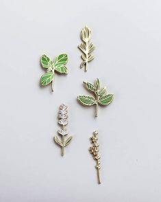 Culinary Pin Pack Basil Lavender Thyme Rosemary and Mint Choses Cool, Under Your Spell, Jacket Pins, Cool Pins, Pin And Patches, Clutch, Up Girl, Pin Badges, Cute Jewelry