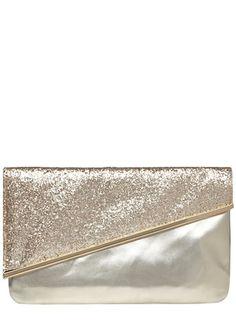 Pochette dorée scintillante à barre oblique pour les temouines et demoiselles d'honneur!!