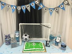 Soccer Theme Baby Shower Cake/Candy table