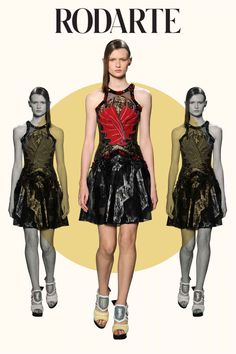 """Rodarte       Designers Kate and Laura Mulleavy's mother's maiden name is Rodarte (pronounced Row-dart-eh). We're getting the feeling that naming your brand after your mother is fashion's equivalent of the """"I Love Mom"""" tattoo. Photo: Maria Valentino/MCV Photo"""
