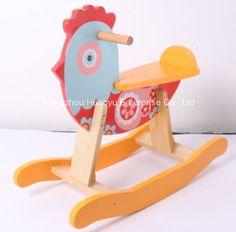 Foto de Eje de balancín oscilante de madera de la Animal-Gallina del nuevo  bebé ff3245462d795